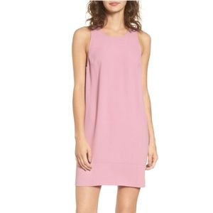 Leith racerback shift dress warm rosy pink
